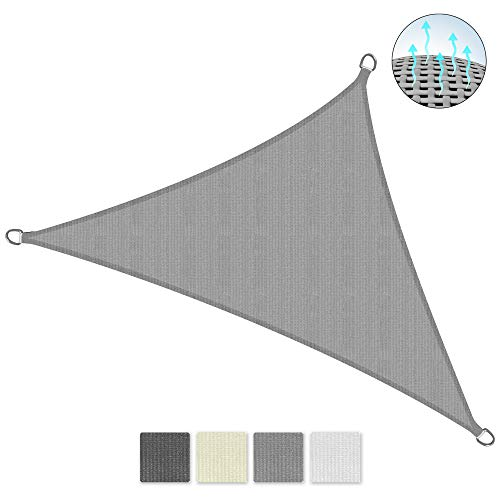 Sol Royal SolVision HS9 - Sonnensegel dreieckig 700x500x500 cm HDPE Atmungsaktiv - Grau - Sonnenschutz UV Schutz