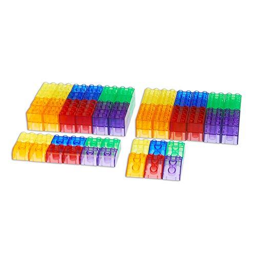Bloques de construcción, 90 piezas, translúcidos