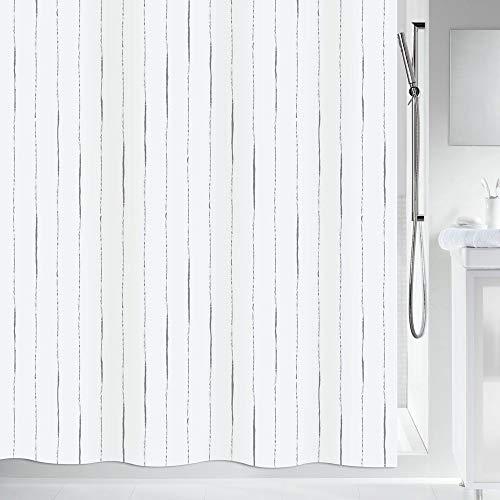 """Spirella Anti-Schimmel Duschvorhang - Anti-Bakteriell, waschbar, wasserdicht - Polyester, """"Alina"""" 240x180cm Weiß"""