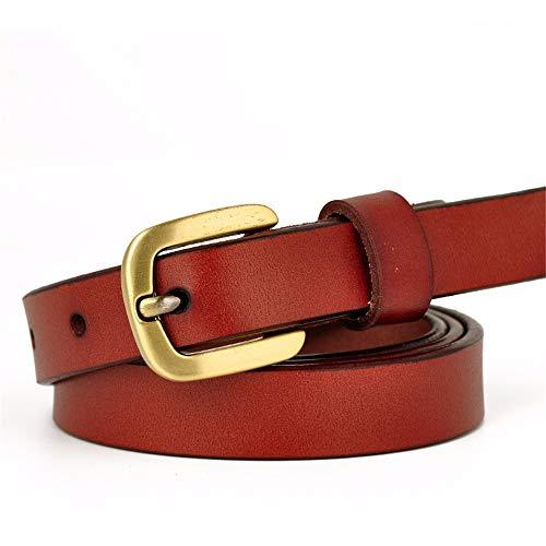 SBORT cintura Ideale per jeans Gonna decorativa da donna e da donna con fibbia ad ardiglione femminile 110 cm marrone rossiccio