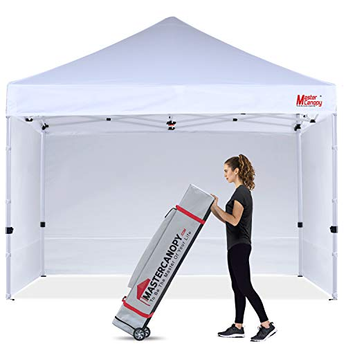 MASTERCANOPY Commercial Pop-up Canopy Tent 12x12 Heavy Duty Instant Canopy with Sidewalls (White)