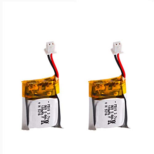 2 Pack 3.7V 100mAh Lipo Battery for WLtoys V272,Cheerson CX-10 Mini Quadcopter Estes Proto X, Syncro X Drone