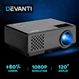 Devanti 2800 Lumens Portable Mini Video Projector with 120'' Projection Size for 1080P