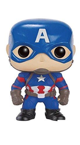 Funko - POP! Bobble Colección Marvel - Figura Capitán América (7223)