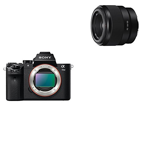 Sony Alpha ILCE-7M2 - Cámara EVIL (sensor Full Frame de 35 mm, 24.3 Mp, estabilizador de 5 ejes, procesado en 16 bits, visor OLED, vídeo Full HD, Wi-Fi y NFC, sólo cuerpo ) color negro + Sony SEL50F18F.SYX - Objetivo fijo (FE 50mm, F1.8), negro