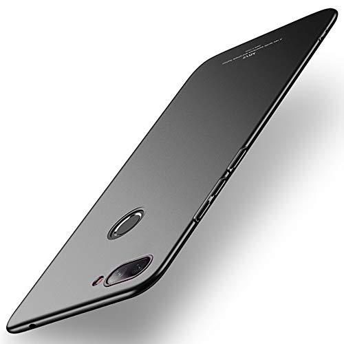 Estuyoya - Custodia Compatibile con Xiaomi Mi8 Lite Carcassa Posteriore Rigida [Ultrasottile] Resistente a Cadute e Urti [Anti Impronta Digitale] Protezione Leggera e Tocco Soffice - Nero