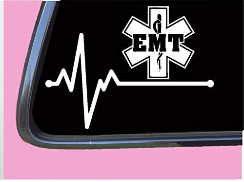 EMT Lifeline TP 261 vinyl 8' Decal Sticker first responder ambulance patch shirt