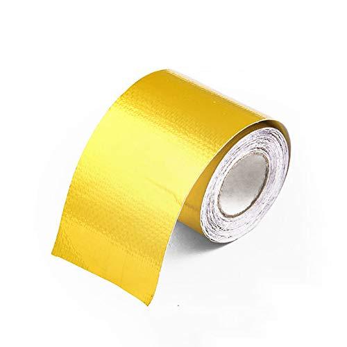 SJZJ Aluminiumfolienband, hochtemperaturbeständiges Aluminiumfolienfasertuch, geeignet für Abzugsrohr-Dunstabzugshaube (10M)