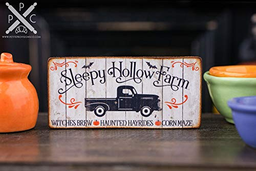 Ced454sy Made to Order Sleepy Hollow Farm Dekoschild Halloween Schild