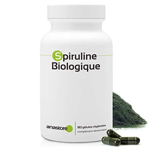 ESPIRULINA ECOLÓGICA * 500 mg / 180 cápsulas * Antioxidantes, Cardiovascular (glucosa), Deficiencias (hemoglobina), Energia (fatiga), Equilibrio emocional, Inmunitario (estimulación de defensas naturales), Peso (adelgazamiento), Rendimiento deportivo * Garantía de satisfacción o reembolso * Fabricado en Francia