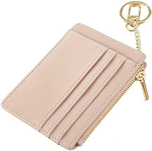Sodsay Card Case Slim Front Pocket Wallet for Women Credit Card Holder with Keychain Smooth product image