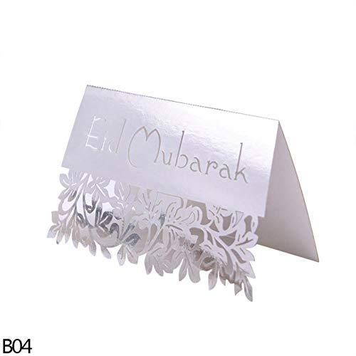 Yener 10st Goud Zilver Zwart Ansichtkaarten Set Kaarten Wenskaarten Blanco Nieuwjaarsuitnodiging, b04-zilver, 10st