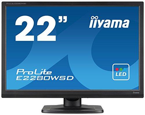 iiyama ProLite E2280WSD B1 56cm 22 Zoll LED Monitor 1610 VGA DVI schwarz