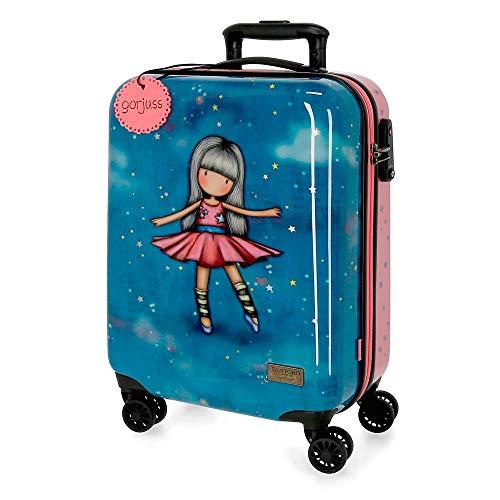 Santoro Gorjuss Dancing Among the Stars Trolley cabina Multicolore 37x55x20 cms Rigida ABS Chiusura TSA 33L 2,6Kgs 4 doppie ruote Bagaglio a mano