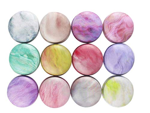 Candy Tins Colorful Marble Metal Tin with Lid Empty Round Metal Storage Tin Cans Jars Containers Travel Storage Tinsfor Candy Cookie Lip Balm DIY Candles Cosmetics Ointment12 Pack