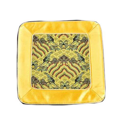 Wukong Paradise Damask Broderie Coaster Tapis De Sol Tapis De Thé Chemin De Table Accessoires De Thé-A06
