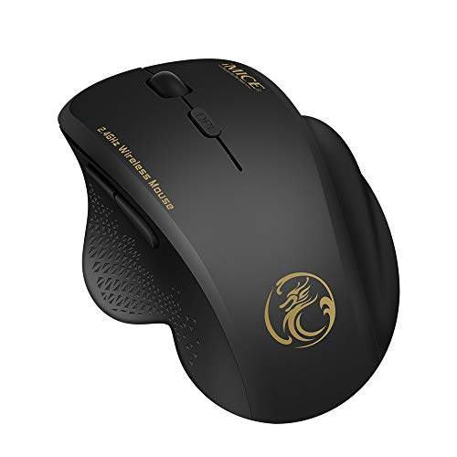 TDOR Wireless Mouse for Laptop,Silent Wireless Mouse with Noiseless Click,Ergonomic Portable Mobile Optical Computer Mice,6 Buttons Computer Mouse for PC