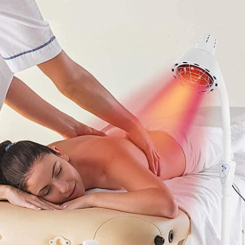 Lámpara de infrarrojos para termoterapia exógena, tratamiento de medio torso, rápido alivio para el dolor muscular, 275 W