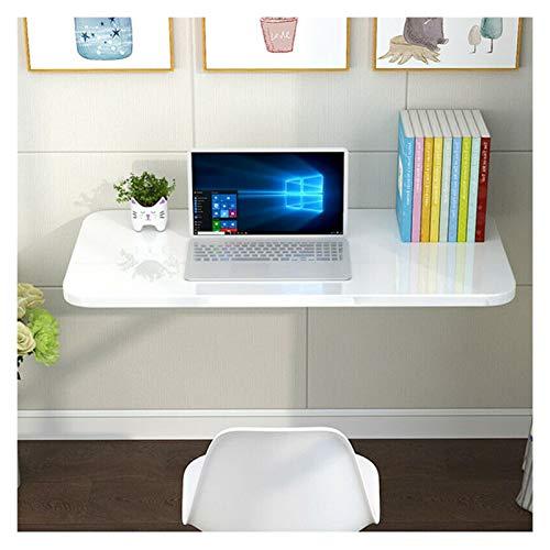 GHHZZQ Hogar Oficina Cocina Escritorio Flotante Mesa De Ordenador Plegable De Hoja Abatible Montada En La Pared Tarea Pesada, Blanco, De Varios Tamaños (Color : White, Size : 70x30cm)