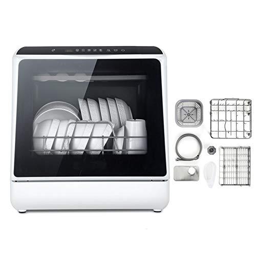 Mini Spülmaschine Tisch Compact Geschirrspüler Mit 6 Platz, Berühren Sie Die Schaltfläche 360 Grad Und Spray 75 ° Hochtemperatur-Sterilisation Mit Obst Und Gemüse Waschfunktion