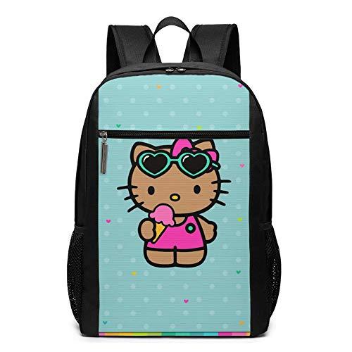 Bolsa de viaje para ordenador portátil Bapa de 17 pulgadas Hello Kitty College College Bookbag bolsa de ordenador casual Daypa para mujeres hombres