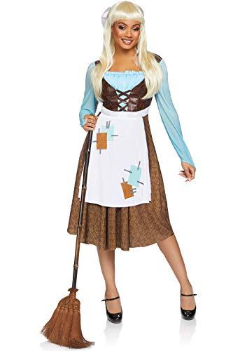 Leg Avenue Women's 2 Pc Peasant Cinderella Costume, Multi, Small