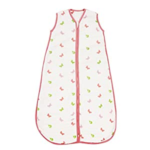 Slumbersafe Baby Muslin Sleeping Bag Wearable Blanket 2.0 Tog Butterfly 0-6 mths/Small
