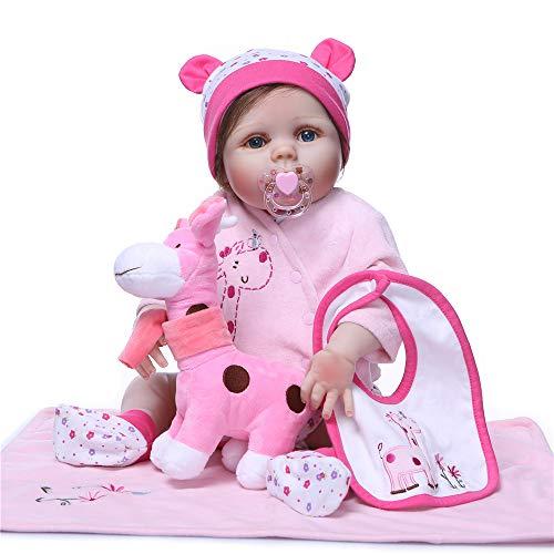 Minidiva Muñeco Recién Nacido, Completo Suave Vinilo Silicona Lifelike Reborn Baby Dolls 55cm Calidad Realista Muñecas Bebé Juguete Regalo RB174