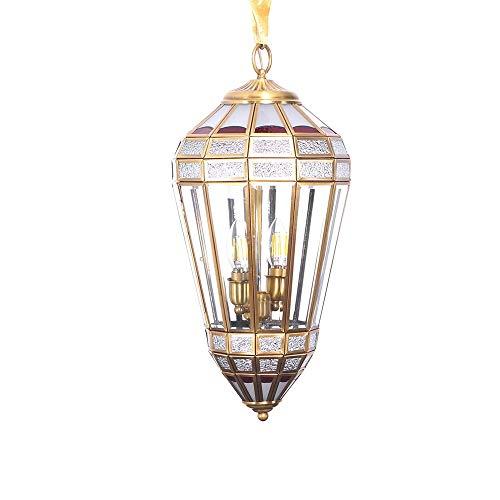 Warm Home Plafondlamp van glas Retro Goud solderen tin koper slaapkamer eetkamer woonkamer kandelaar balkon hal veranda Studio E14 * 2 aangename