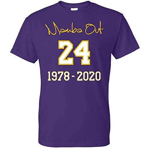 Kobe Mamba Out T-Shirt 24 Farewell Fan Shirt - Limited Edition - Unisex (Mamba Out, XX-Large)