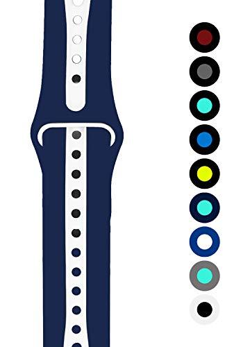 Wengerui Compatible con Watch Correa 42mm/44mm, Nylon Reemplazo Sport Banda Reemplazo para Watch Series 4/Series 3/Series 2/Series 1 (42mm/44mm, Profundo Rojo)