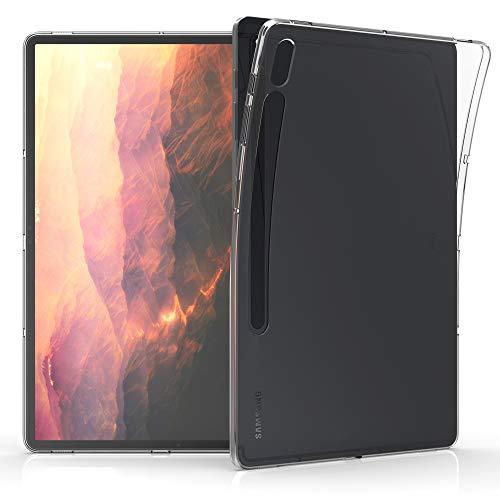 kwmobile Hülle kompatibel mit Samsung Galaxy Tab S7 Plus - Silikon Hülle transparent - Tablet Cover Transparent