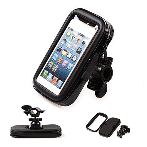 Waterproof Smartphone Bicycle Holder, Bicycle Phone Holder, Handlebar Bag, Universal Bicycle Handlebar Holder, Mobile Phone Case with Touchscreen Phone Holder, Frame Bag for MTB Bike, 6.3 Inches