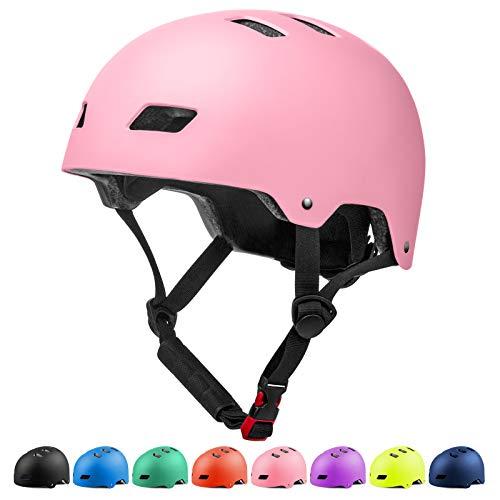 Glaf Adult Cycling Bike Helmet Men Women Bike Helmet Classic Commuter Bike Skate Multi-Sport Helmet Adjustable Lightweight MTB Mountain Bike Helmet for Scooter Roller Skateboard (Pink, L)