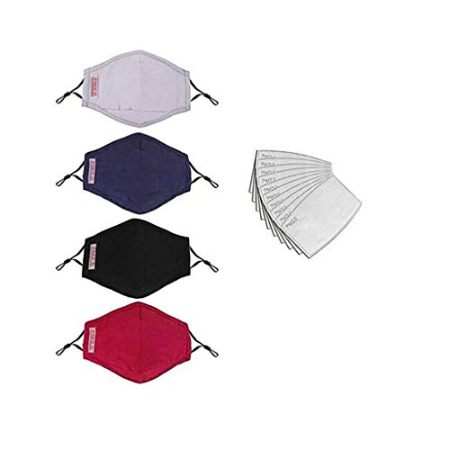 Fantastic Deal! Toxz 4PC Cloth+8PC Filter Pad Anti-dust Reusable Cotton Riding Face 𝐌𝐚𝐬𝐜...