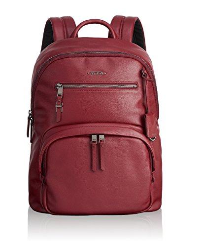 Tumi Voyageur Hagen Leather Backpack Mochila Tipo Casual, 36 cm, Rojo (Brick)