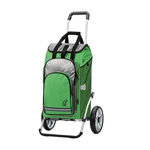 Andersen Shopper Royal mit kugelgelagertem Luftrad 25 cm und 60 Liter Einkaufstasche Hydro grün mit Kühlfach
