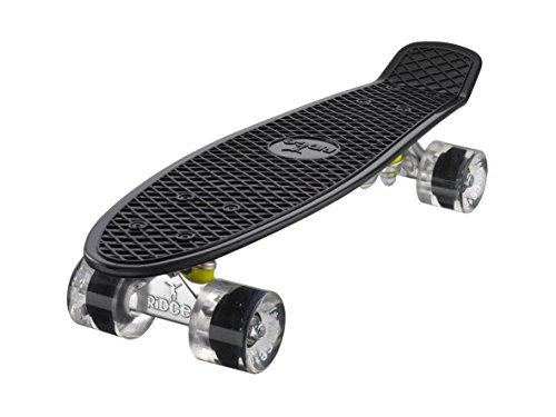 Ridge Skateboard Mini Cruiser, schwarz-klar, 22 Zoll