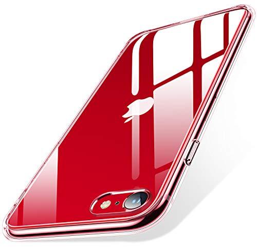 Humixx - Carcasa para iPhone SE, iPhone 7/8, transparente y antiamarilla, parte...
