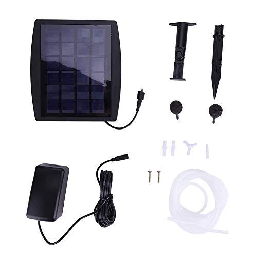 SOULONG - ossigenatore a energia Solare, aeratore di Ossigeno con Pompa ad Aria in Pietra per Piscine, laghetti, acquari, 9,1 x 17 x 2,1 cm