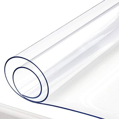 デスクマット テーブルマット 透明 クリア PVC製 オーダー オフィス用 エグゼクティブデスク適用 事務所机用多機能 防水 厚1.5mm 幅〜100cm 丈 60cm
