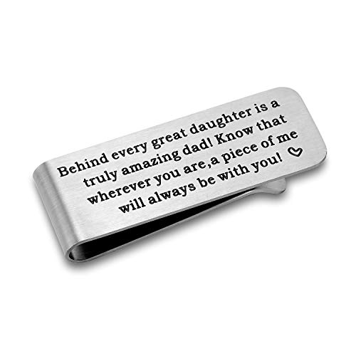 CJ&M Gift for dad,Father's day Gift from Daughter,Gift for Fathers Day, Daddy Money Clip
