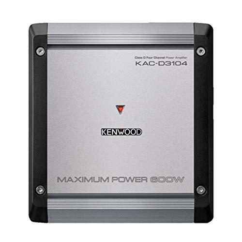 Kenwood KAC-D3104 4-Channel Class D 600W Max Amplifier w/Bass Boost