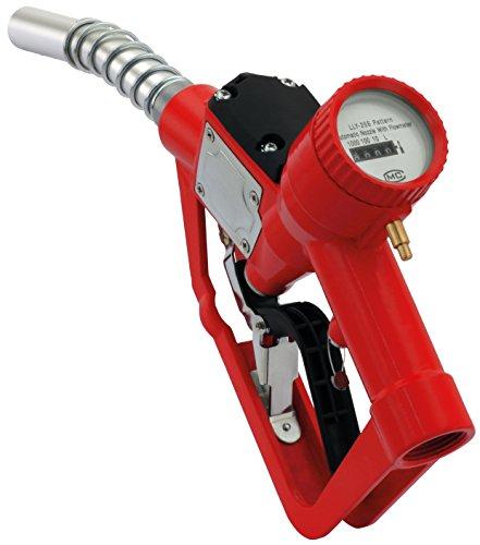 """Automatische Zapfpistole mit mechanischem Zählwerk 1\"""" IG, bis zu 60 Liter pro Minute an Durchfluss, Hebelschutz, Gegendruckfeder, Zapfventilautomatik"""