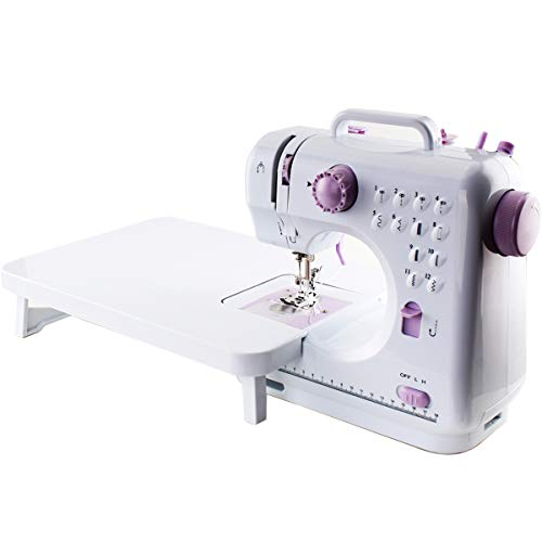Electric Sewing Machine, Sewing Machine with Extension Board for Beginners, Portable and Multifunctional
