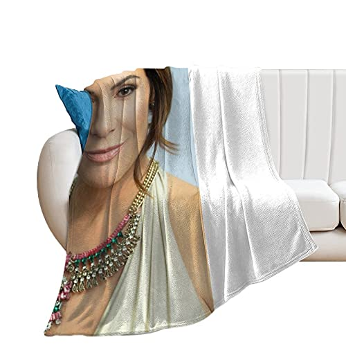 Luann De Lesseps - Coperta ultra morbida in micropile per casa, divano, letto, divano, caldo, leggero, per tutte le stagioni, con stampa 3D, per bambini e adulti, 150 x 140 cm