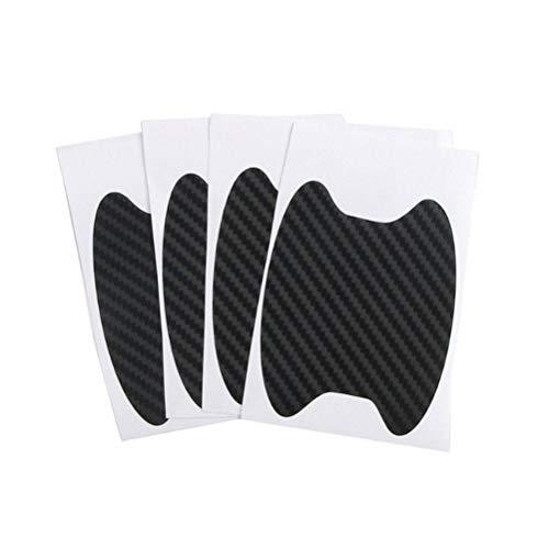 Heylas Auto Türgriff Schutzfolie für Griffschalen,4 Stücke Universal Kohlefaser Auto Türgriff Film Aufkleber Auto Griff Anti Scratch Aufkleber, selbstklebend und Qualitätsware