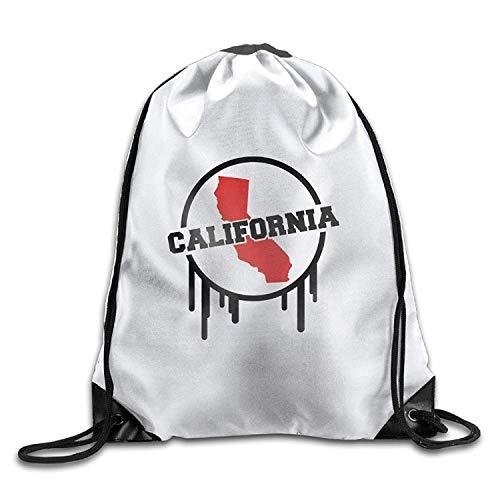 Etryrt Premium Drawstring Bag, California World Design Co2 Funny Gym Drawstring Bags Travel Backpack Tote School Rucksack