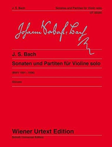 Sonaten und Partiten: für Violine solo. BWV 1001-1006. Violine. (Wiener Urtext Edition)