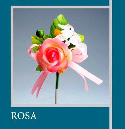 Set 12 pièces, Bonbonnière Fleur Bouquets Fleur cm 10 x 4 (ck5021-pk12) (Rose)